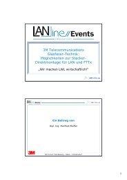 3M Telecommunications Glasfaser-Technik: Möglichkeiten ... - LANline