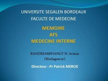 Syndrome de Schnitzler - UMFCS Bordeaux Segalen