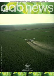 Issue 73, Summer 2011 - Association of Applied Biologists