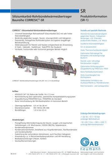 Siliziumkarbid-Rohrbündelwärmeübertrager ... - GAB Neumann Gmbh
