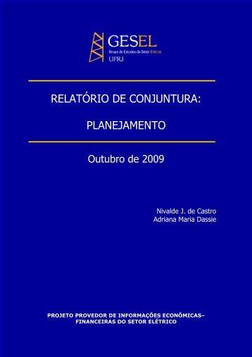 RELATÓRIO DE CONJUNTURA: PLANEJAMENTO - Nuca - UFRJ