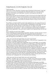Wahlgd Hemmerde, 12.11.2010, Predigt über 2.Kor.6,2b Liebe ...