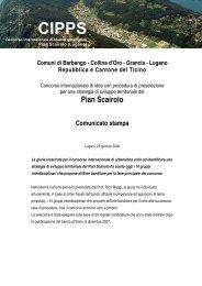 Comuni di Barbengo - Collina d'Oro - Grancia - Pian Scairolo