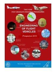 ENGINEERING OF FLIGHT VEHICLES - IMMT