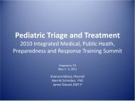 Pediatric Triage and Treatment - The 2012 Integrated Medical ...