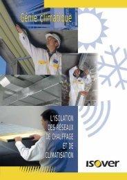 L'isolation thermique et acoustique en génie climatique Les ...