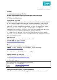 Einladung 2. bundesweites Vernetzungstreffen für Leitungen und ...