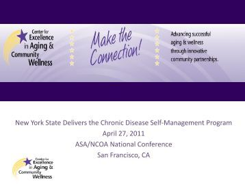 New York State Delivers the Chronic Disease Self-Management ...