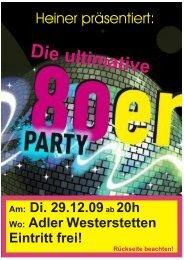 80er-Party im Adler Westerstetten - Elvis - The King Is Back