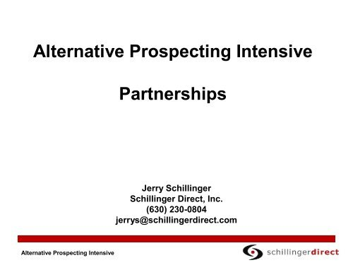 Alternative Prospecting Intensive Partnerships - Altman Dedicated ...