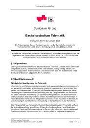 Curriculum für das Bachelorstudium Telematik - mibla.TUGraz.at