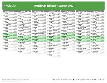 movieplex schedule june 2013 starz