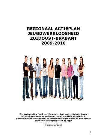 REGIONAAL ACTIEPLAN JEUGDWERKLOOSHEID ... - Pact Brabant