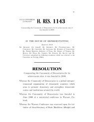 H. Res. 1143 (IH) - Council for a Community of Democracies