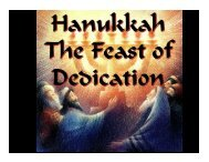 Hanukkah Blessings - Congregation Yeshuat Yisrael