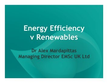 Energy Efficiency v Renewables - eco-fair