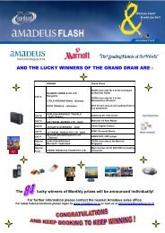 AND THE LUCKY WINNERS OF THE GRAND DRAW ARE - Amadeus