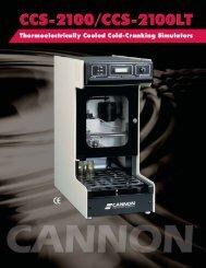 Cold-Cranking Simulator CCS-2100/2100LT - Cannon Instrument ...
