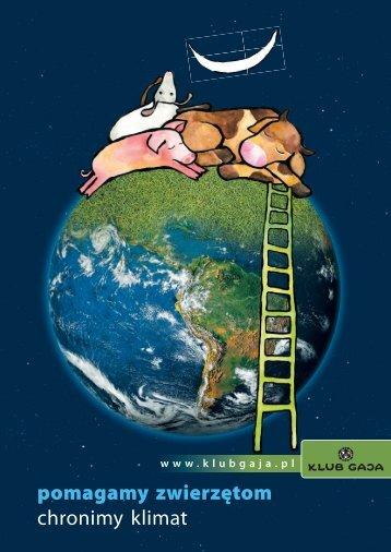 Broszura Pomagamy zwierzętom, chronimy klimat - Klub Gaja