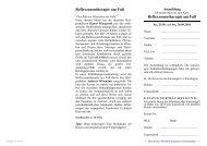 Reflexzonentherapie am Fuß ... - GDT Heilpraktikerschule Siegburg