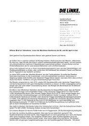 Offener Brief - DIE LINKE. Schleswig Holstein