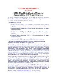 ****Client Alert 13-2006**** USCG OPA 90 Certificate of ... - Skuld
