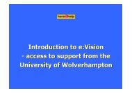 Introduction To E vision (2) - University of Wolverhampton