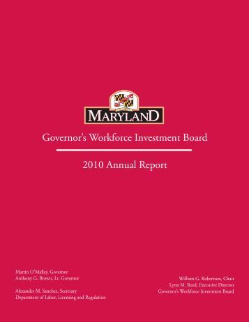 Governor's Workforce Investment Board 2010 Annual Report