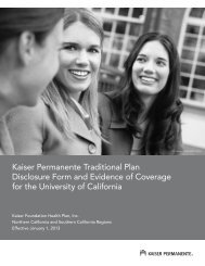 Kaiser Permanente - California - At Your Service - University of ...