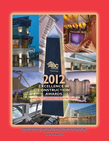 2012 excellence in construction awards - ABC
