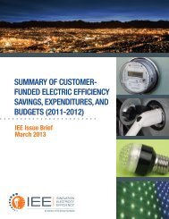 Summary of Customer-Funded Electric Efficiency Savings - Edison ...