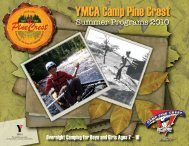 2 Welcome to YMCA Camp Pine Crest! - YMCA of Greater Toronto