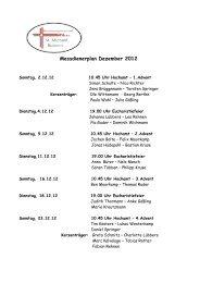 Messdienerplan Dezember 2012 - Vitus-loeningen.de