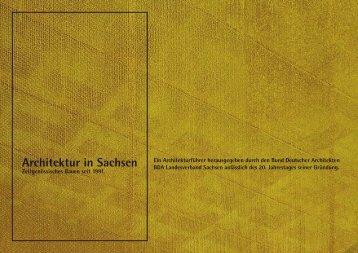 Architektur in Sachsen - Bund Deutscher Architekten BDA