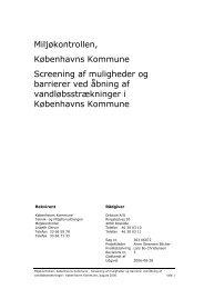 Screening af muligheder og barrierer ved åbning af ...