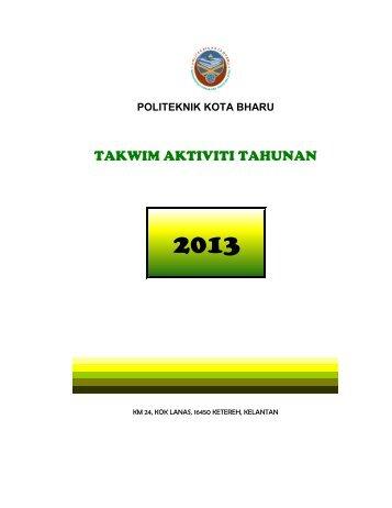 takwim pkb 2013 - Politeknik Kota Bharu
