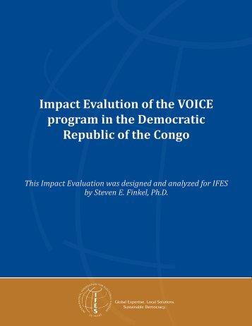 VOICE Impact Evaluation - IFES