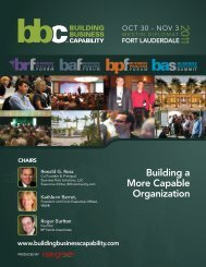 Building a More Capable Organization - Business Rules Forum