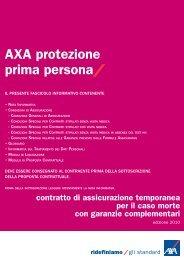 AXA protezione prima persona contratto di assicurazione ...