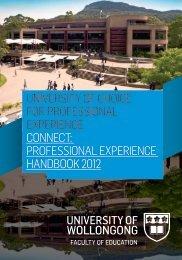 professional experience handbook 2012