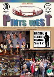 Pints West 92, Winter 2011 - Bristol & District CAMRA