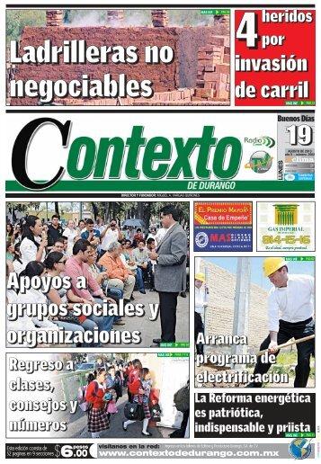 19/08/2013 - Contexto de Durango