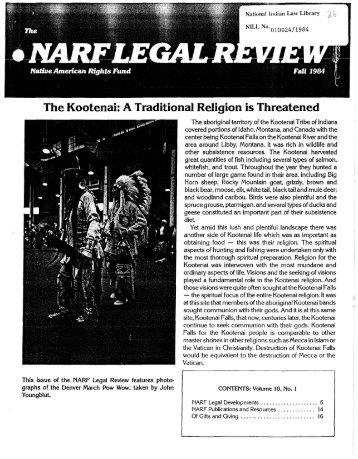 The Kootenai: A Traditional Religion is Threatened - Native ...