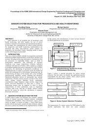 Sensor System Selection for Prognostics and ... - ResearchGate
