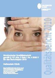 Qualitätsbericht 2010 Helfenstein Klinik