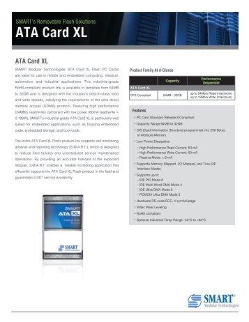 ATA Card XL Product Overview - Smart Modular Technologies, Inc.