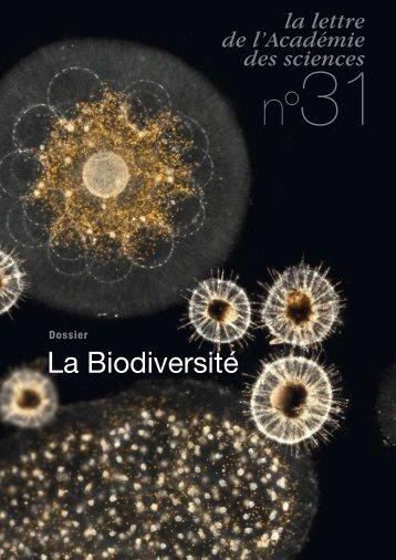 La Biodiversité - La Lettre n°31 - Académie des sciences