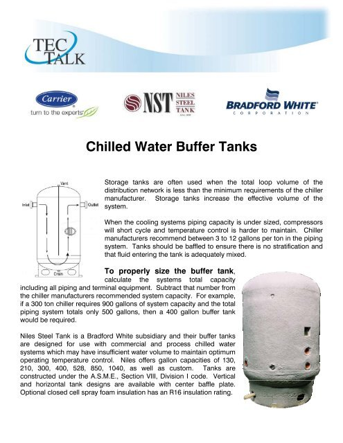 Chilled Water Buffer Tanks - Temperature Equipment Corporation