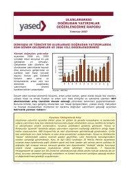 uluslararası doğrudan yatırımlar değerlend rme raporu - YASED ...