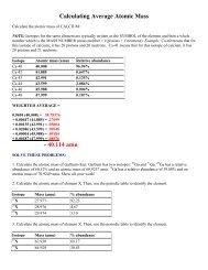 Average Atomic Mass Worksheet